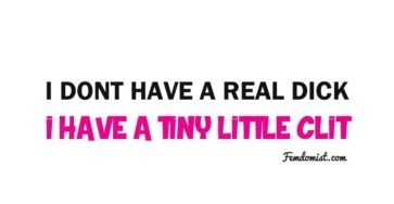 Big List of Tiny Clit Dicks
