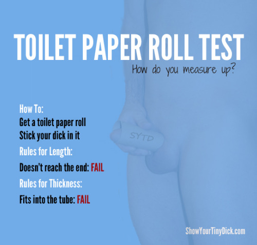 Toilet Paper Roll Test Guide Show Your Tiny Dick