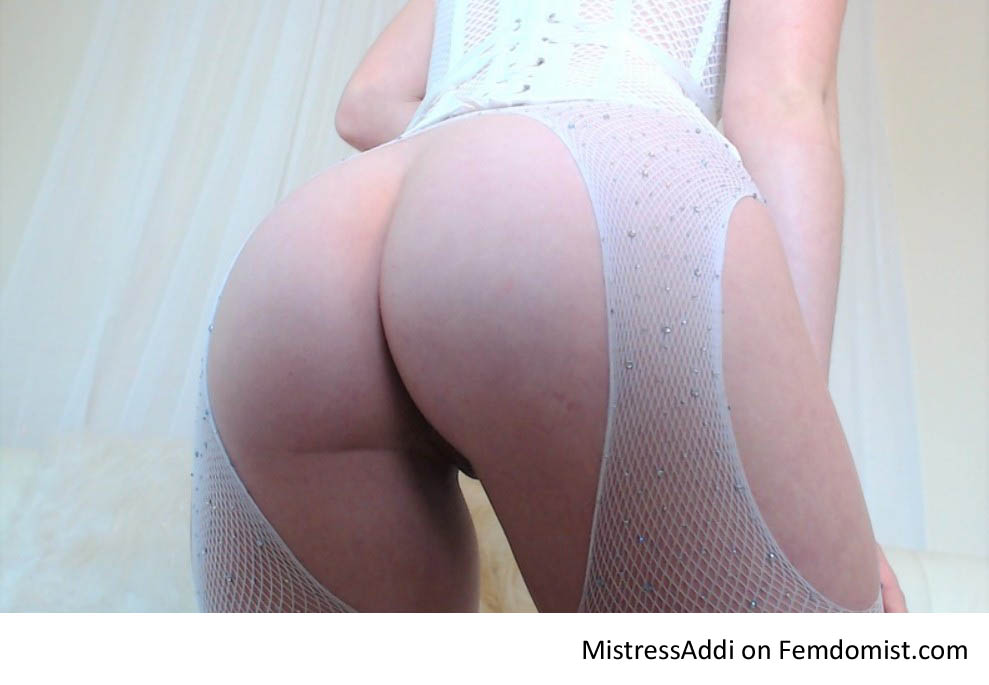 Femdom bent over for ass worship.