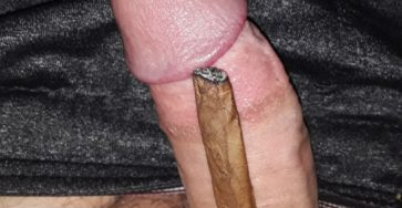 hard dick compared to half a blunt