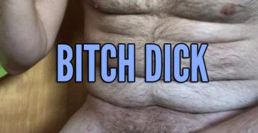 Quick cumming bitch dick