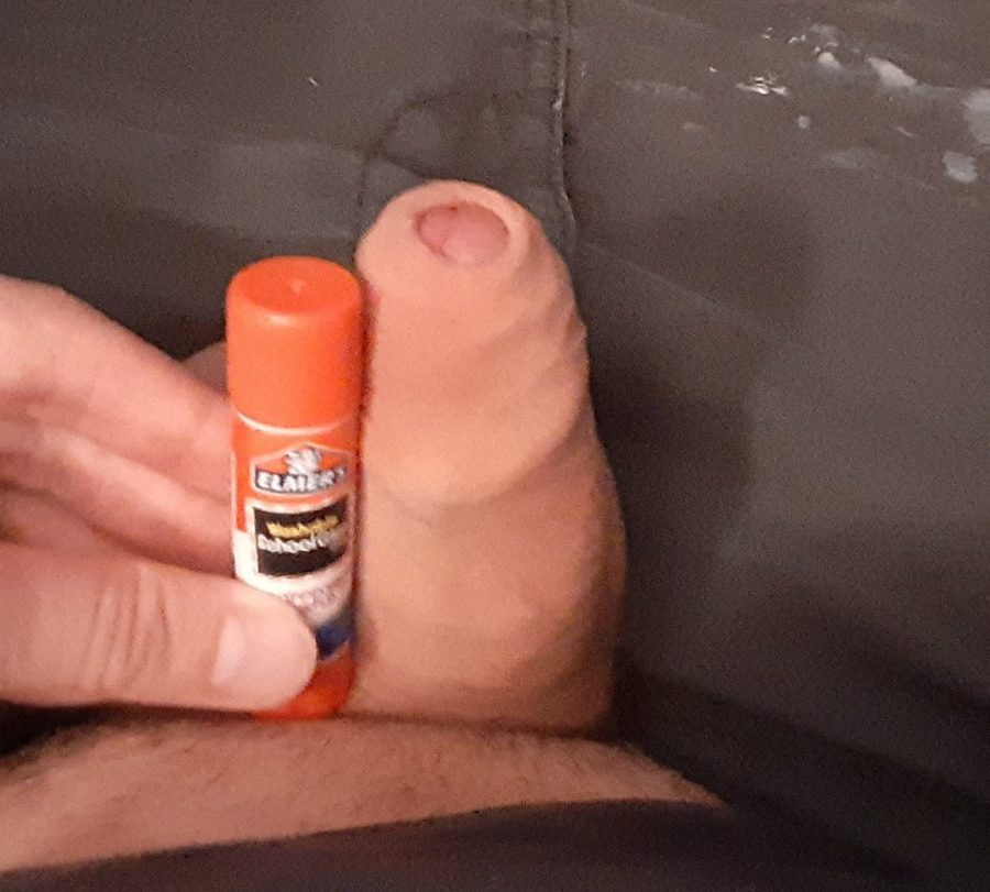 Barely beating a glue stick