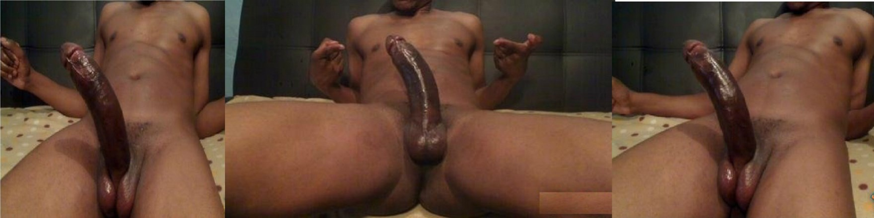 Master has a big chocolate cock for you