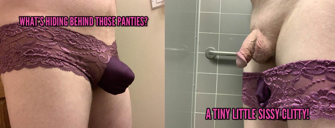 Behind his sissy panties