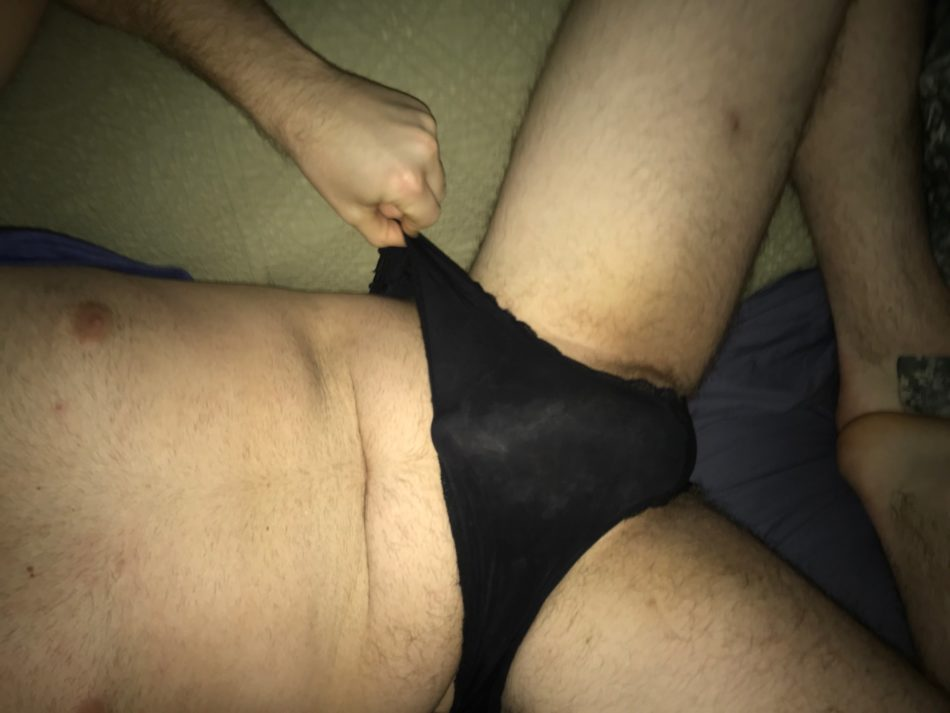 Clitty cocklette fits in panties.