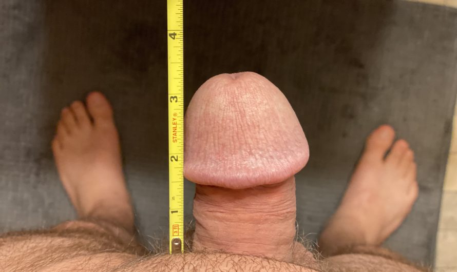 3 inches of gay cock doing the Dick Size Challenge