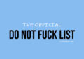 Do Not Fuck List