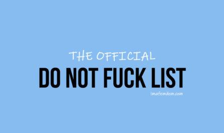 Do Not Fuck List