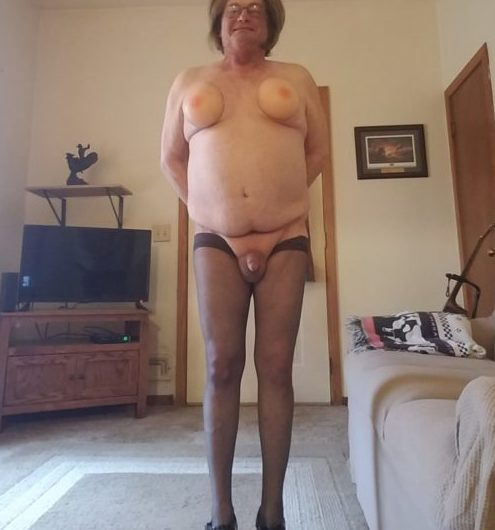 Tiny dick has gone feminine and gay