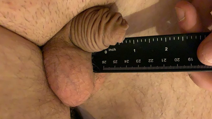Dick so small it's just a wrinkle