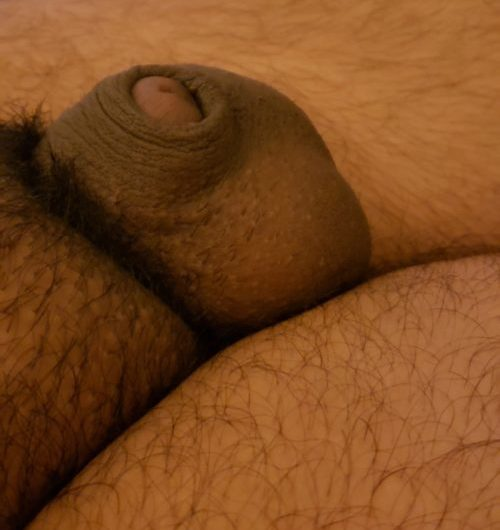 I have a tiny brown clit dick