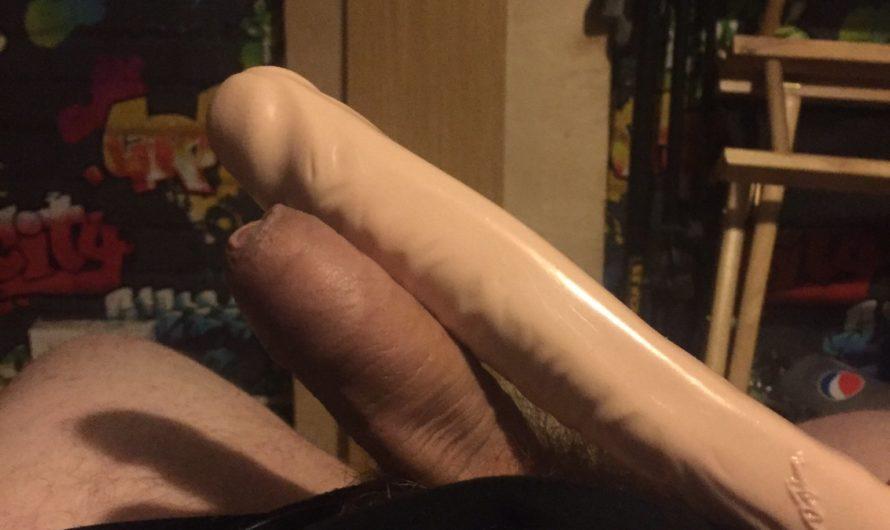 Short boner thinks he's not super small while doing the dildo challenge