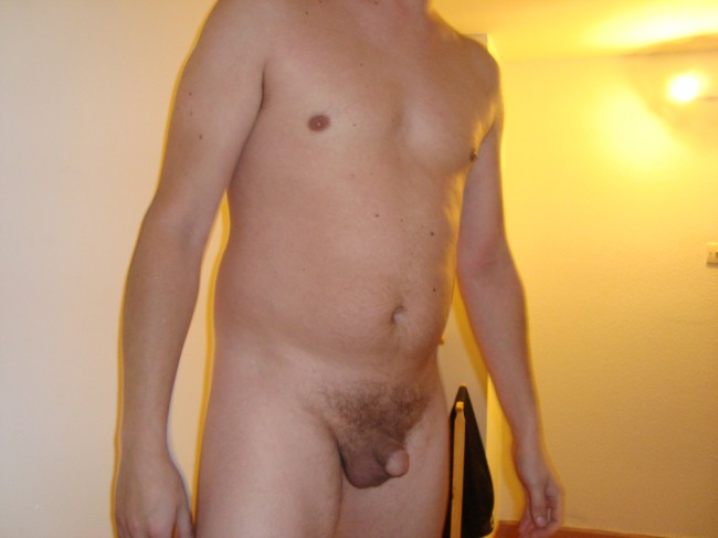 He loves showing off his short dick