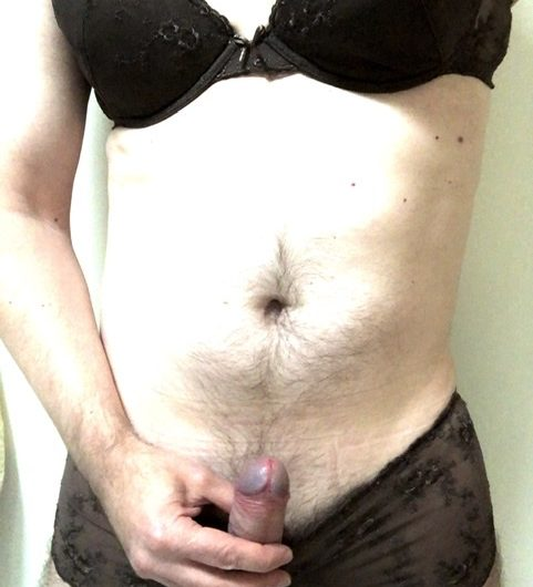 Made to dress up like a sissy and his pecker got hard