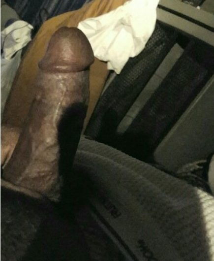 Black dick preparing for cuckolding or a lifetime of handpussy