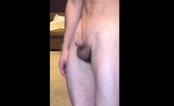 Skinny guy shows his incredibly small penis