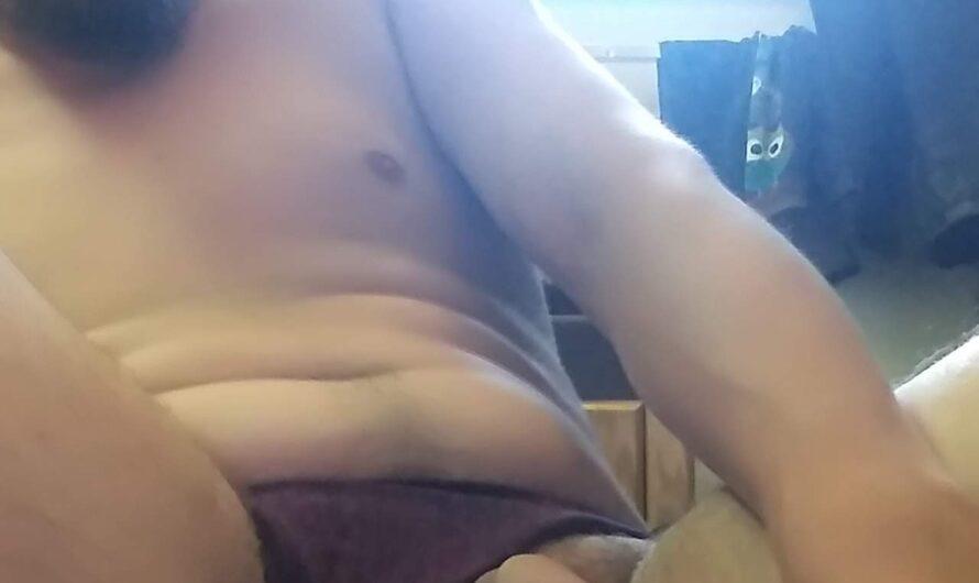 Tiny penis packer loves wearing panties