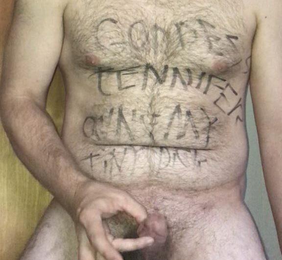 Cuckold can barely masturbate his mini meat