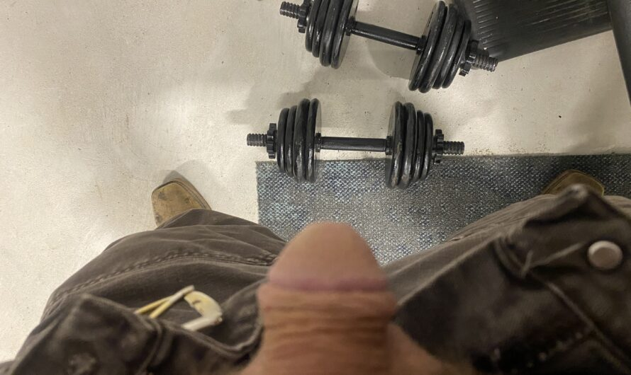 Working out and showing off at work