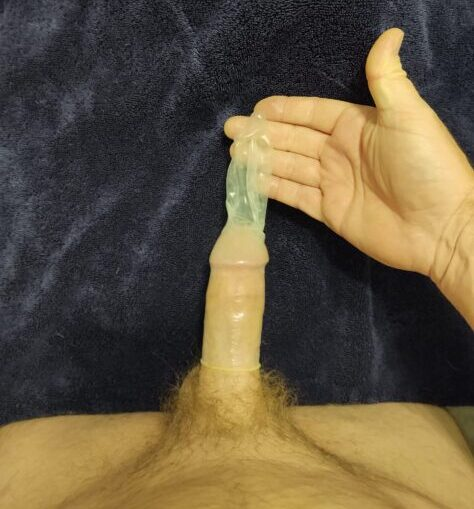 Cuckold does the condom challenge