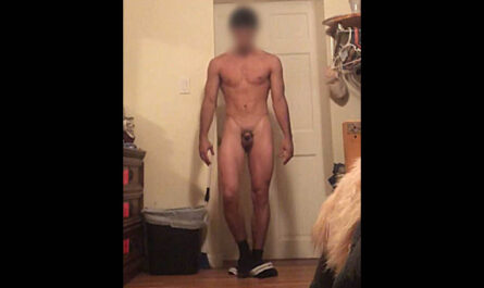 Guy with small dick exposed.