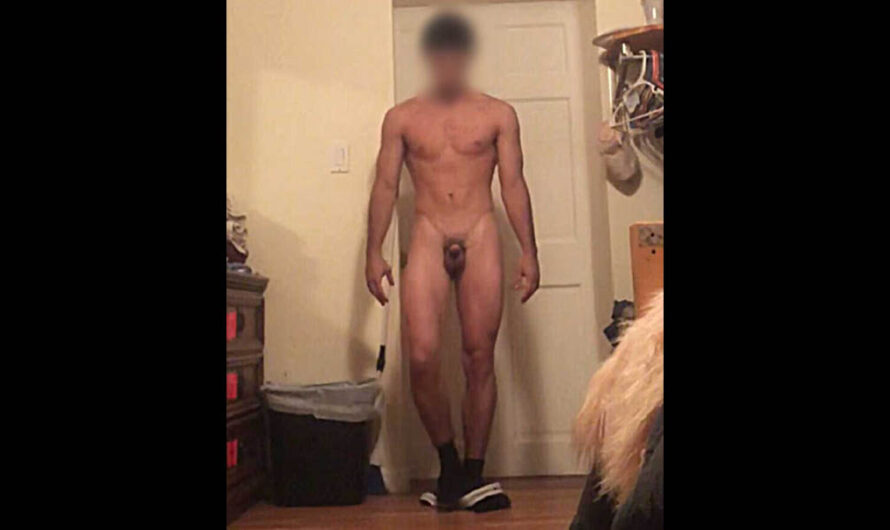Guy with a small dick exposed for packing a micro