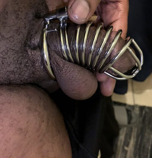 Goddess caged my small black dick