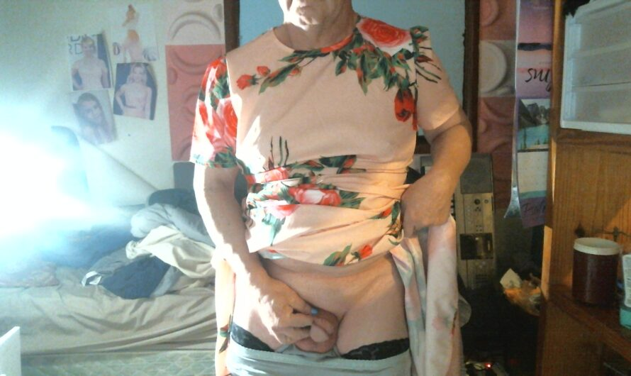 Guy in a dress with his clitty showing