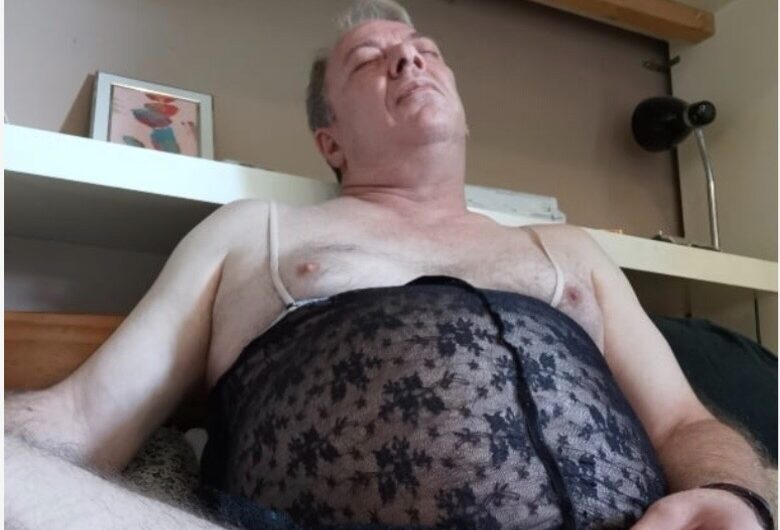 Sissy Steve loves his wife Debbie's underwear