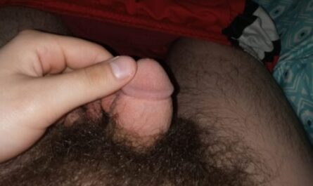 Grown man with a miniature erection