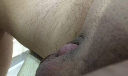 Taiwanese micro penis trying to poke out