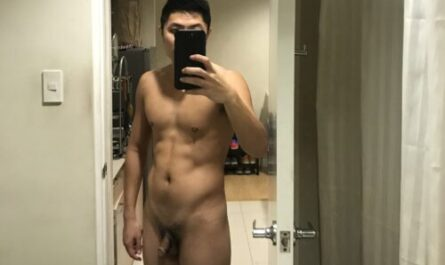 Asian guy works out but that can't fix his small penis