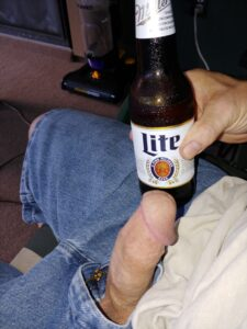 His penis compared to a beer bottle